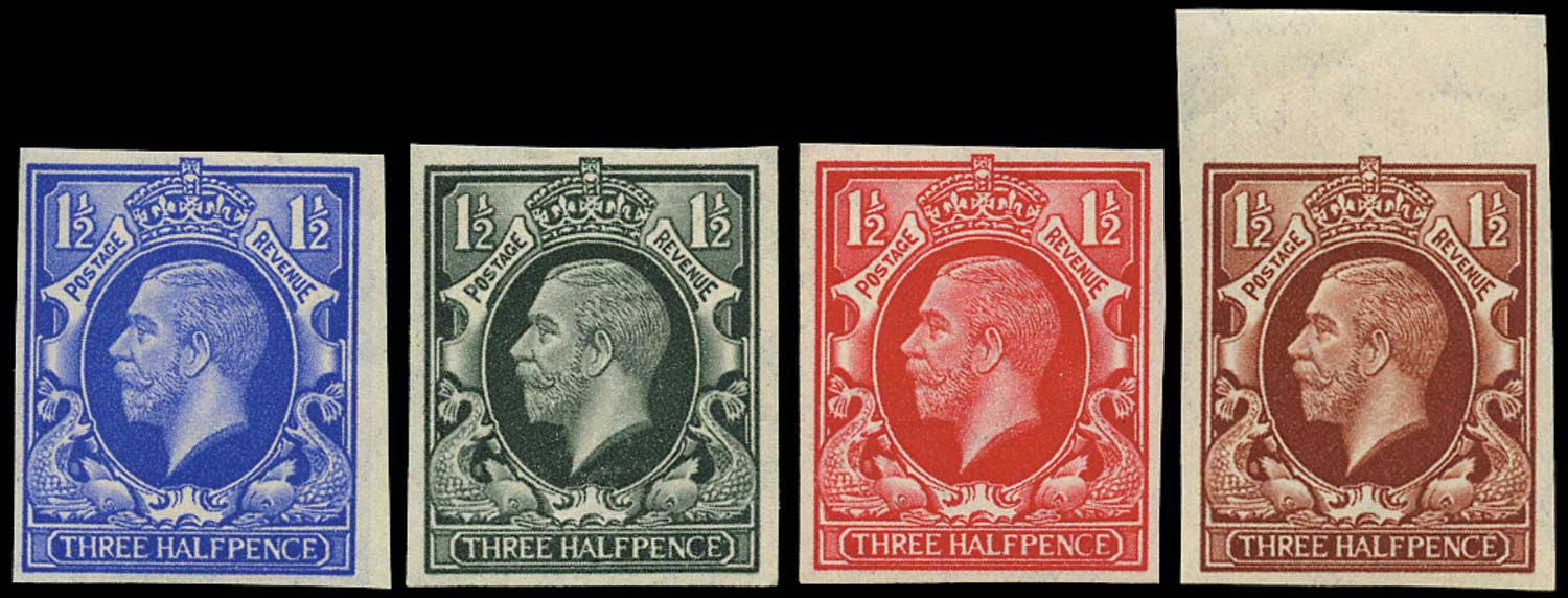 GB 1934  SG441var Mint - Imperforate colour trials