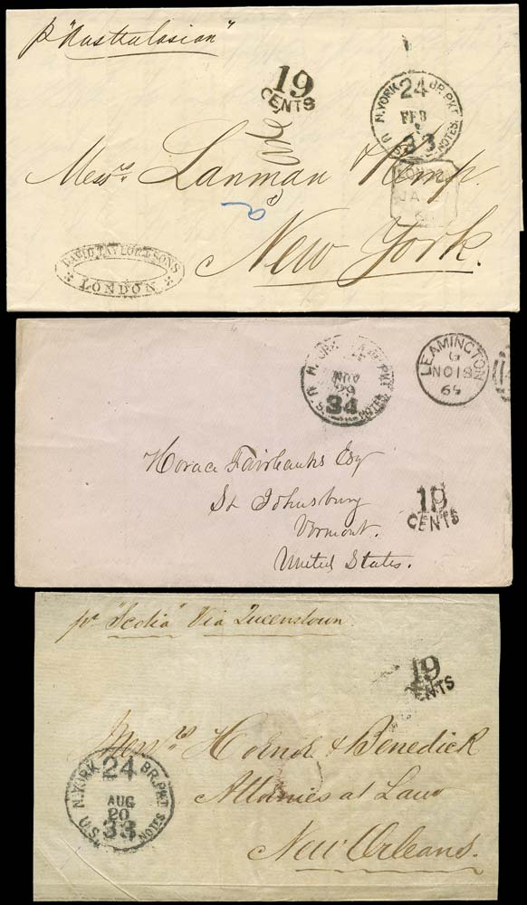 GB 1865-67 Cover - Depreciated currency marking