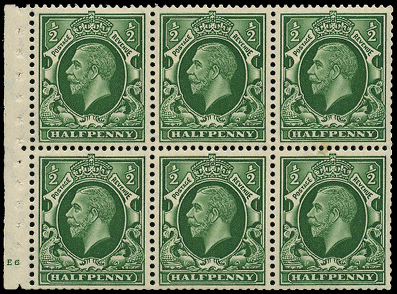 GB 1935  SG439c Booklet pane (small format) cyl.E6