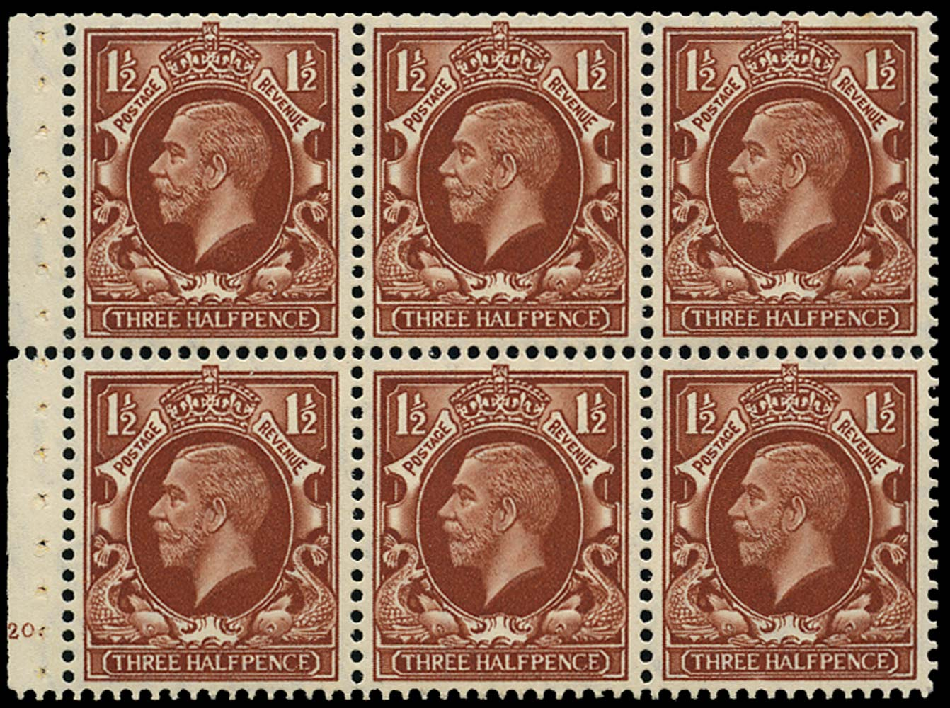 GB 1935  SG441f Booklet pane (small format) Cyl.G20.