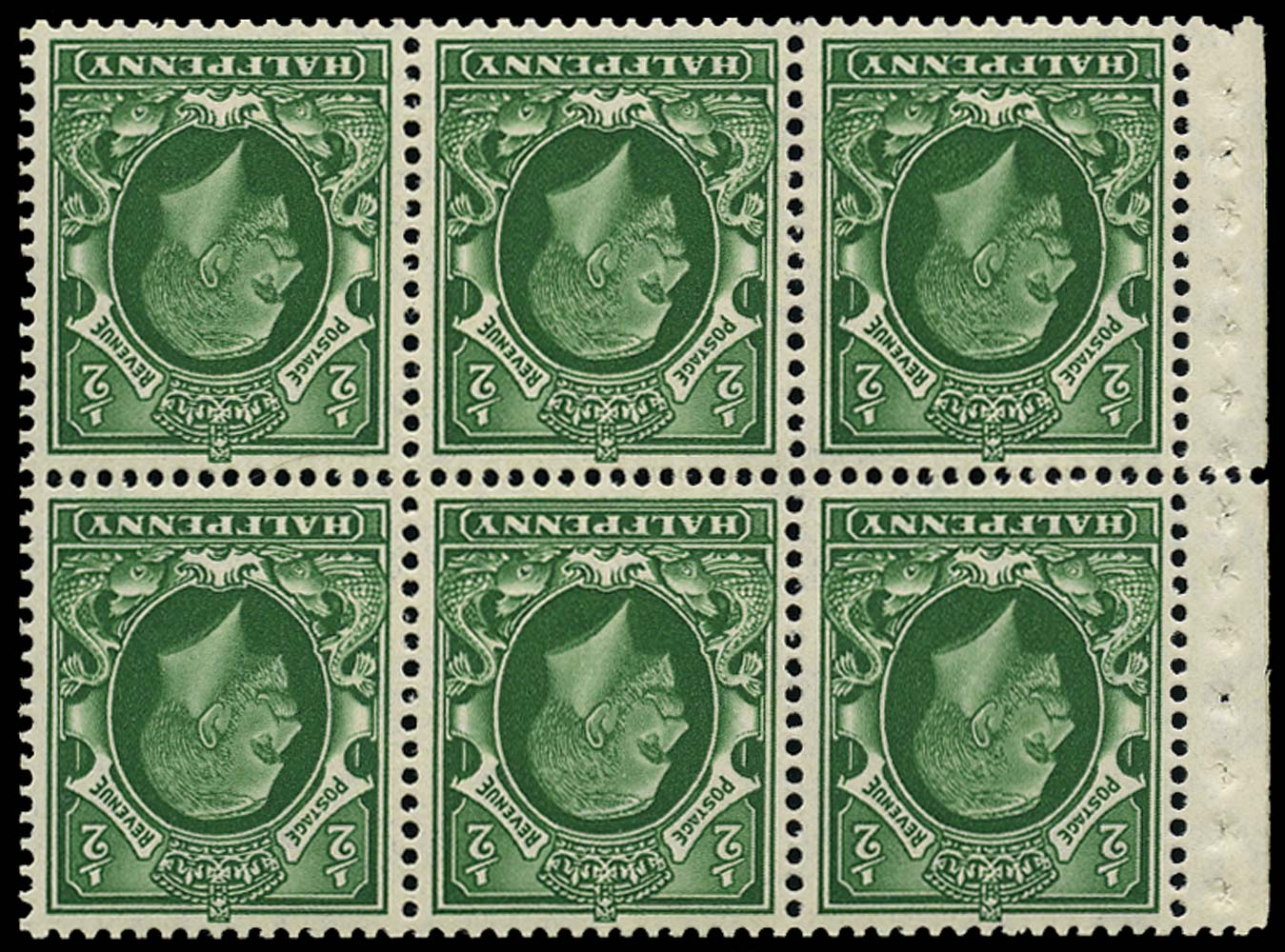 GB 1935  SG439cw Booklet pane (small format) Wmk. Inverted