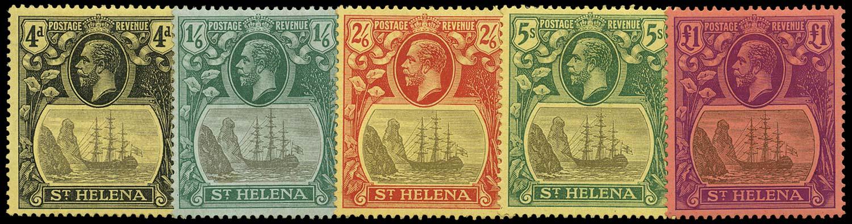 ST HELENA 1922  SG92/96 Mint watermark MCA set of 5