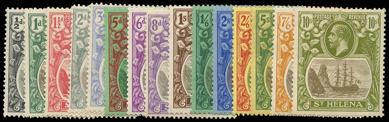 ST HELENA 1922  SG97/112 Mint Script watermark set of 15