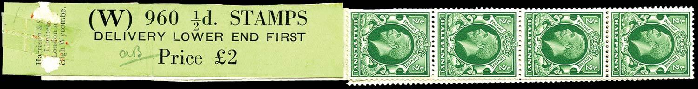 GB 1935  SG439 Mint - Coil leader (Code W)