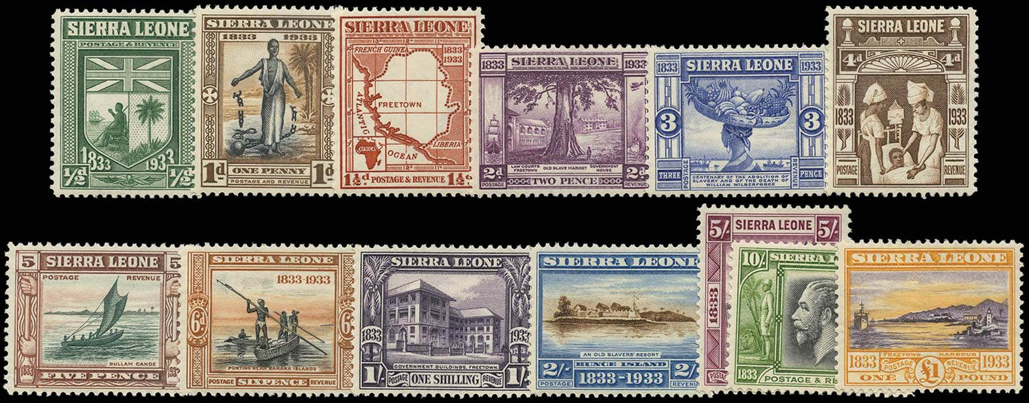 SIERRA LEONE 1933  SG168/80 Mint Wilberforce set