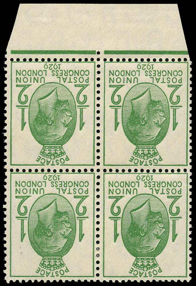 GB 1929  SG434wi Mint - Wmk. Inverted from sheet