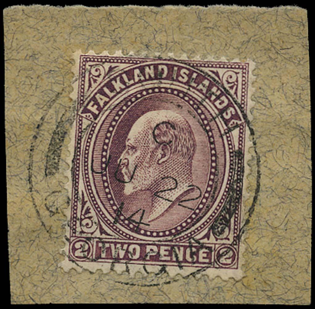 FALKLAND ISLAND DEPS 1904  SGZ16b Cancel