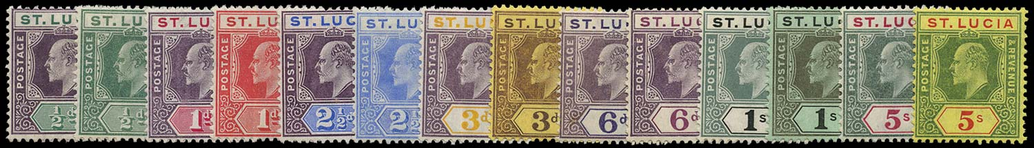 ST LUCIA 1904  SG64/77 excl 73 Mint part set of 14 less 6d dull purple