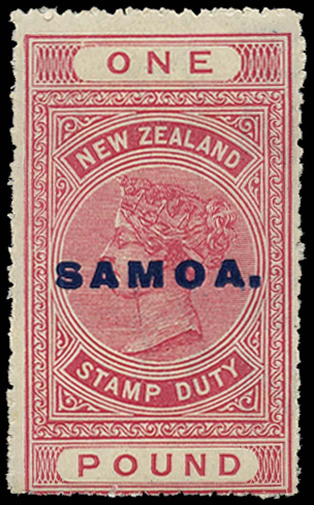SAMOA 1914  SG126 Mint £1 rose-carmine perf 14 DLR paper