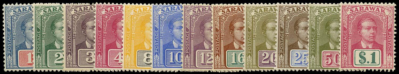 SARAWAK 1918  SG50/61 Mint no watermark set of 12 to $1