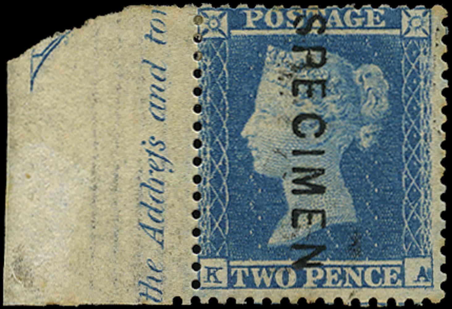 GB 1855  SG23s Pl.4 Specimen type 2
