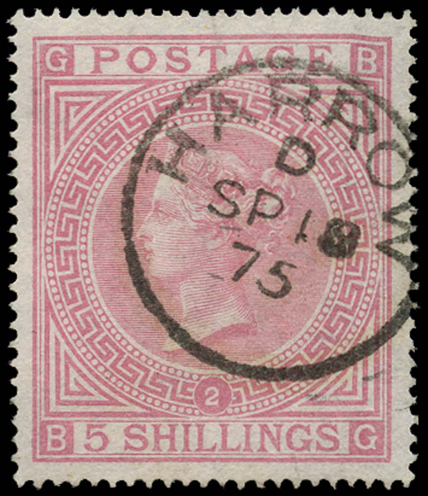 GB 1874  SG127 Pl.2 Used
