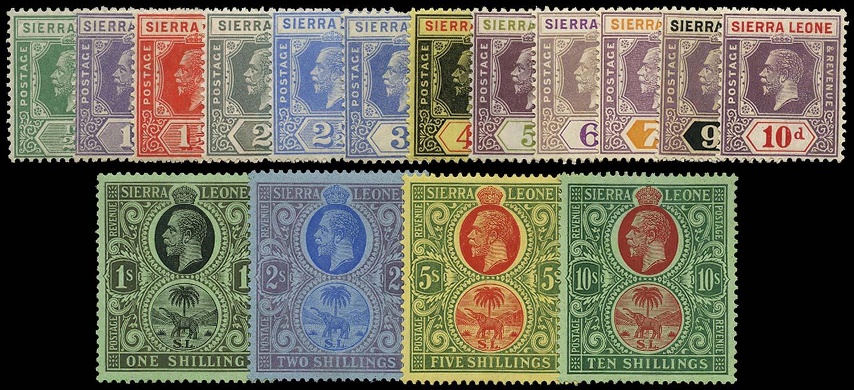 SIERRA LEONE 1921  SG131/46 Mint Script wmk set of 16 to 10s