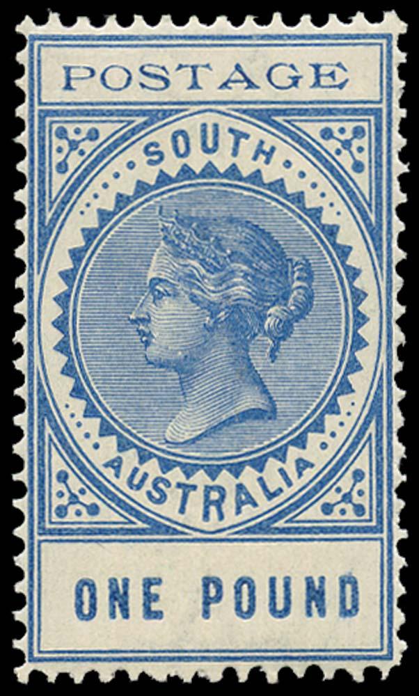 SOUTH AUSTRALIA 1902  SG279 Mint £1 blue thin POSTAGE