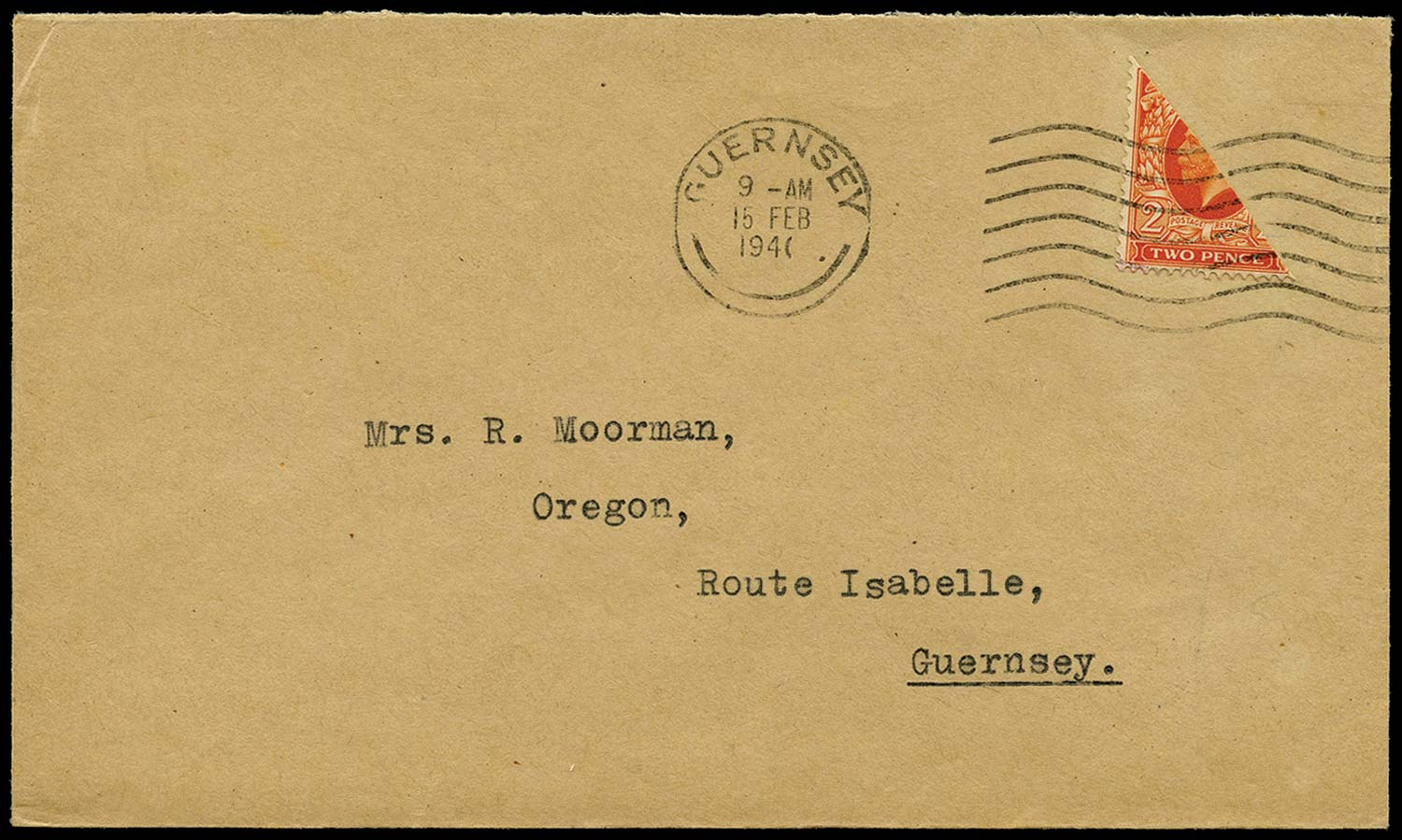 GB 1941  SG442var Cover - 2d Photogravure bisect