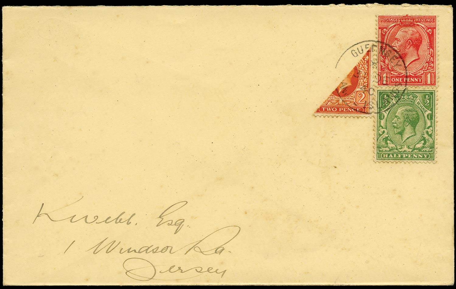 GB 1940  SG418,419,442var Cover - 2d Photogravure bisect