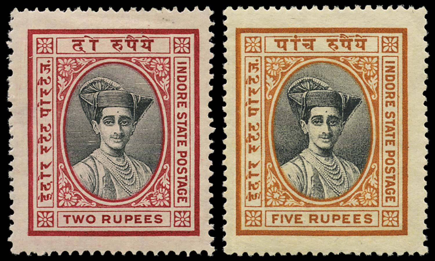 I.F.S. INDORE 1927  SG31/2 Mint