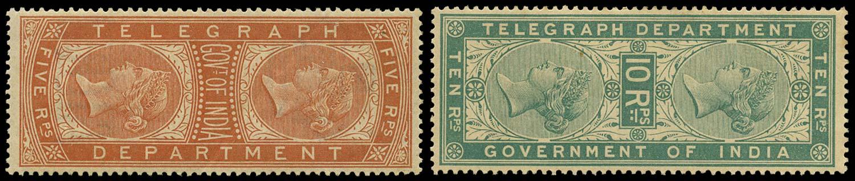 INDIA 1882  SGT38/9 Telegraph