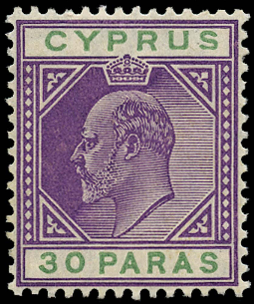 CYPRUS 1904  SG63c Mint 30pa Damaged