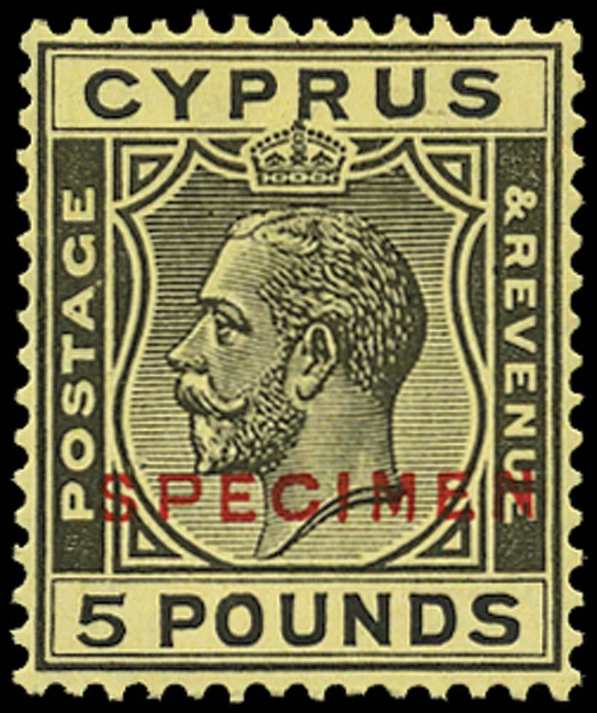 CYPRUS 1924  SG117as Specimen