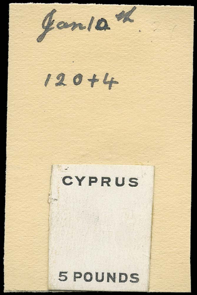 CYPRUS 1928  SG117a Pl.proof Proof