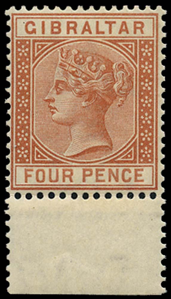 GIBRALTAR 1886  SG12 Mint