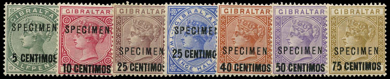 GIBRALTAR 1889  SG15s/21s Specimen