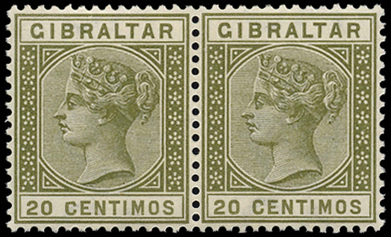 GIBRALTAR 1889  SG25a Mint