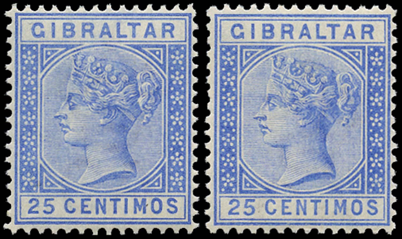 GIBRALTAR 1889  SG26, 26a Mint