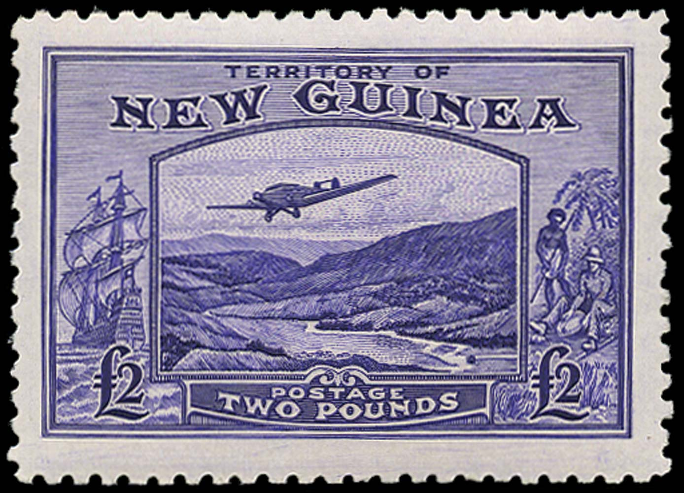 NEW GUINEA 1935  SG204 Mint £2 bright violet unmounted
