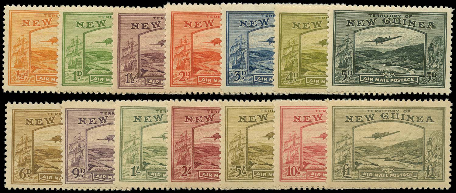 NEW GUINEA 1939  SG212/25 Mint Bulolo Goldfields set of 14 unmounted