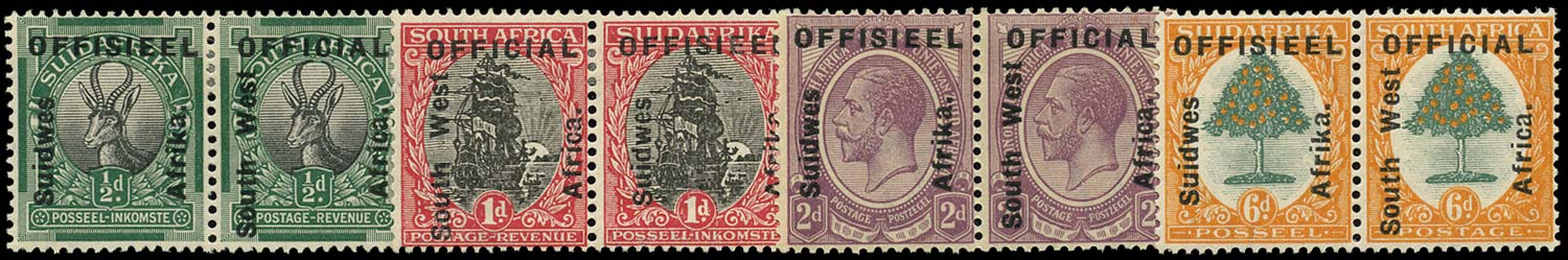 SOUTH WEST AFRICA 1927  SGO1/4 Official
