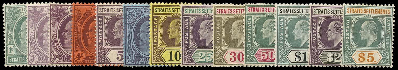 MALAYA - STRAITS 1904  SG127a/38a Mint watermark MCA set to $5