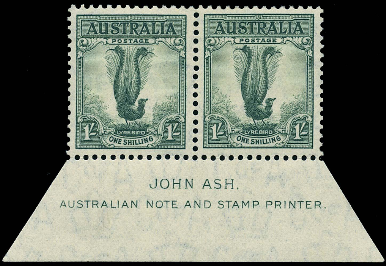 AUSTRALIA 1937  SG174 Mint 1s Lyrebird perf 13½x14