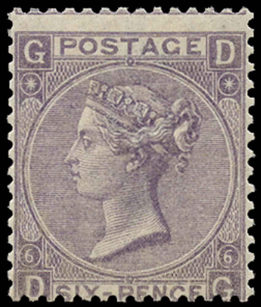 GB 1867  SG104 Pl.6 Mint unused o.g.