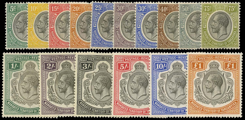 TANGANYIKA 1927  SG93/107 Mint