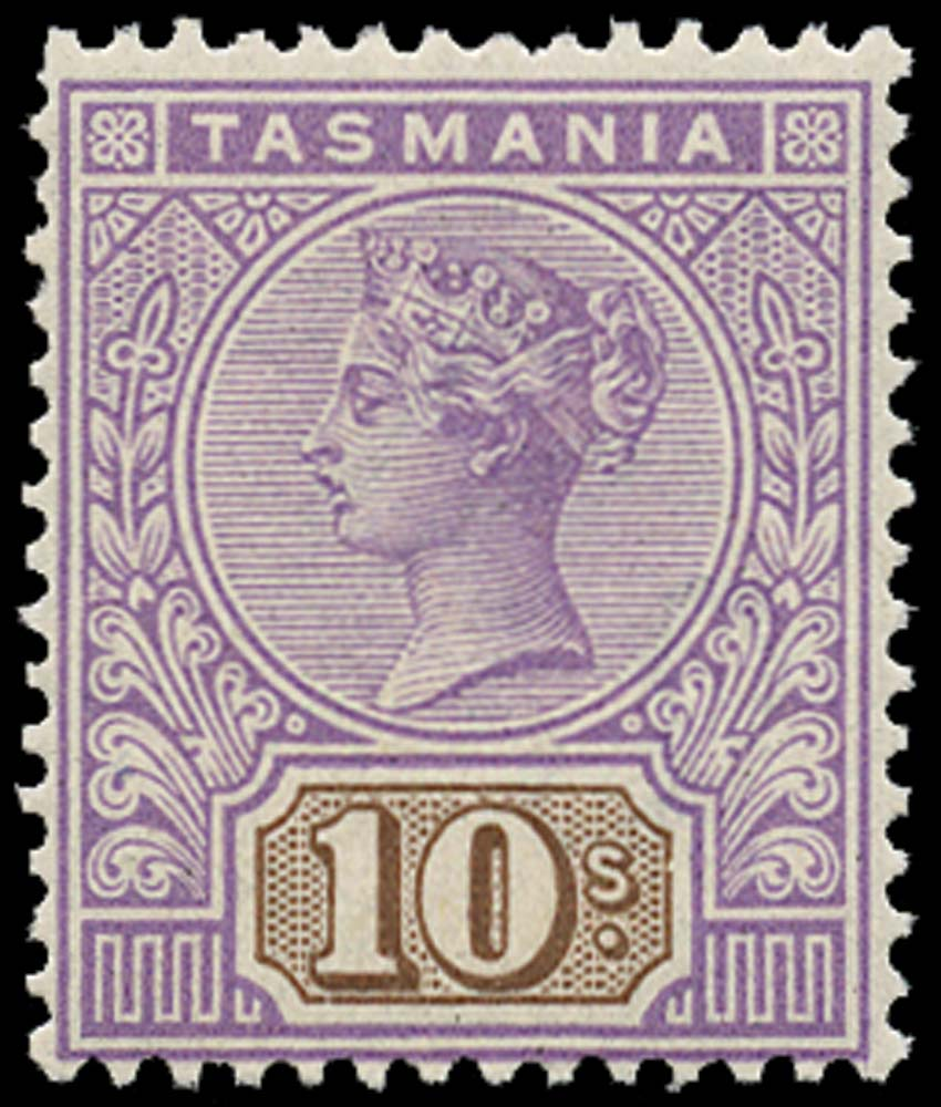TASMANIA 1892  SG224 Mint 10s mauve and brown