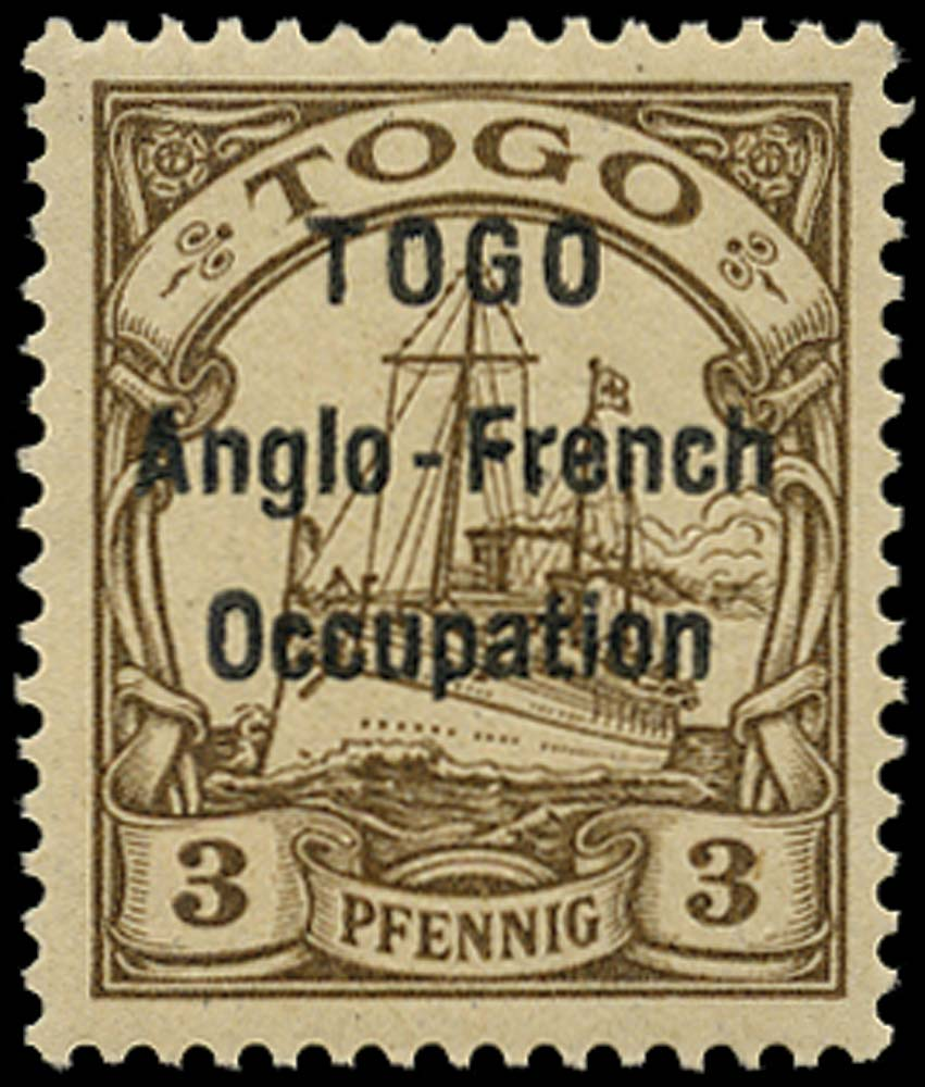 TOGO 1914  SGH1 Mint 3pf brown type 1 overprint unmounted