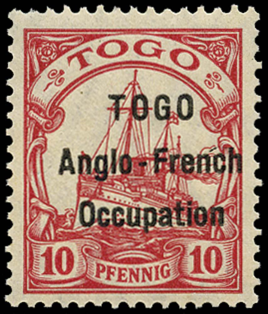 TOGO 1914  SGH3 Mint 10pf carmine type 1 overprint