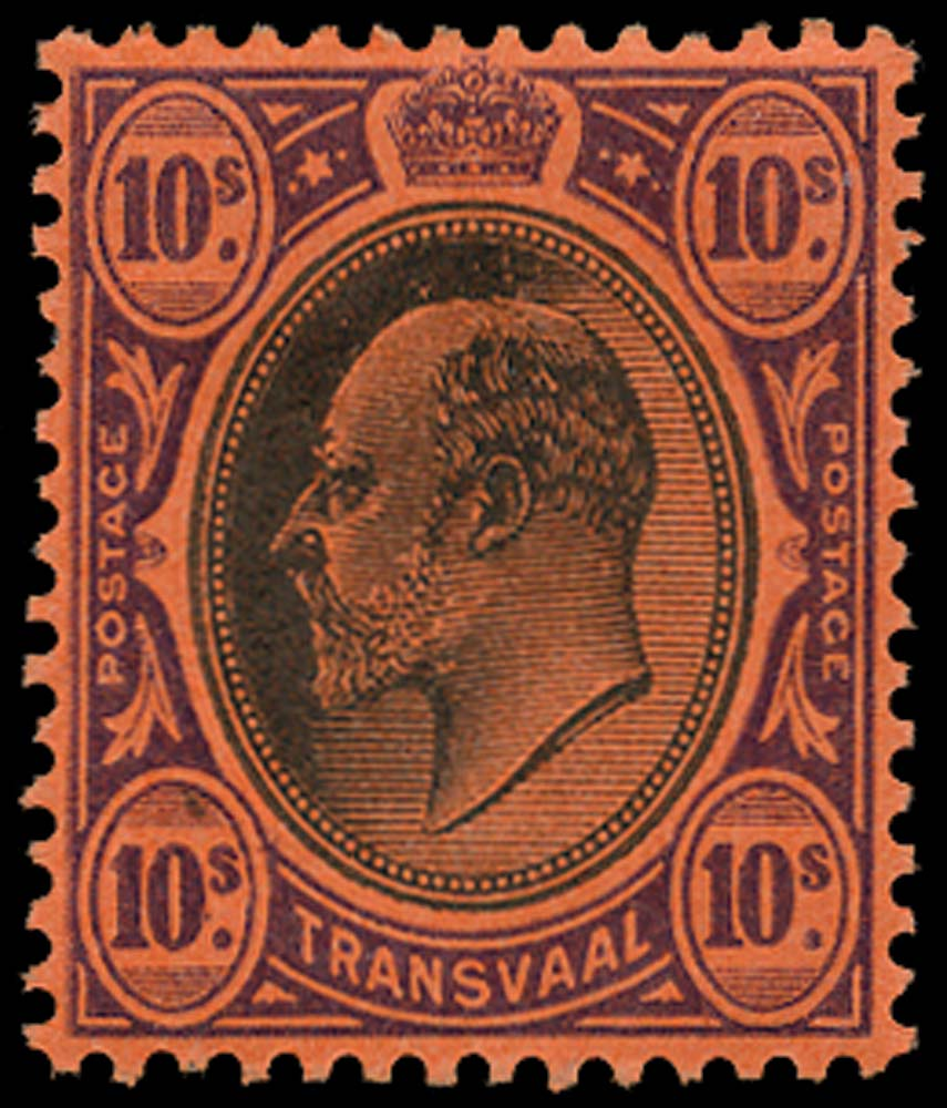 TRANSVAAL 1904  SG271 Mint 10s black and purple on red watermark MCA