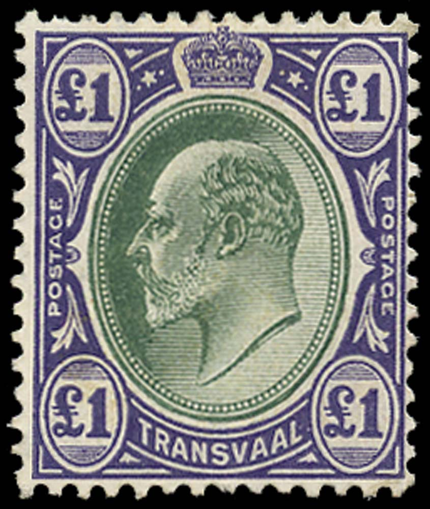 TRANSVAAL 1904  SG272a Mint £1 chalk-surfaced paper watermark MCA