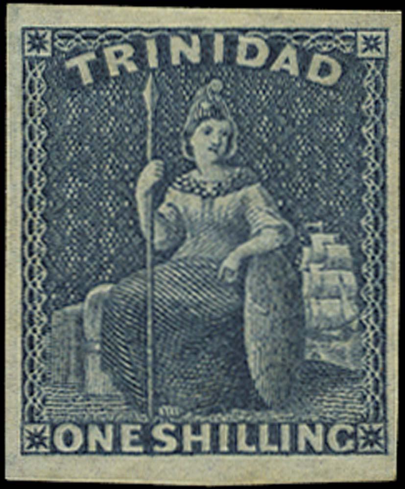 TRINIDAD 1859  SG29 Mint 1s indigo