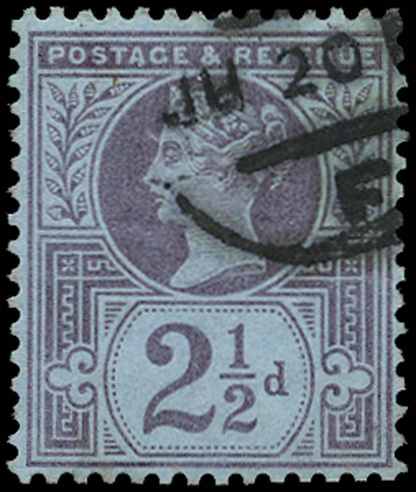 GB 1887  SG201wi Used Wmk inverted