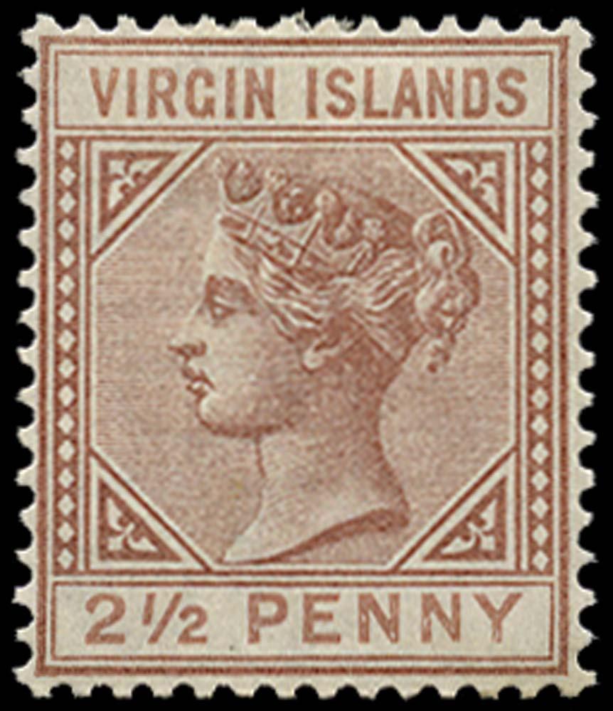 VIRGIN ISLANDS 1879  SG25 Mint 2½d watermark CC