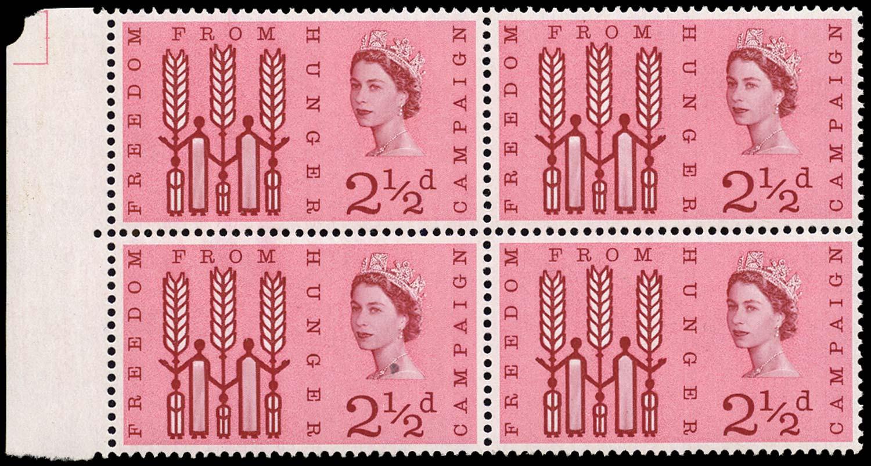 GB 1963  SG634var Mint Broken R in Freedom