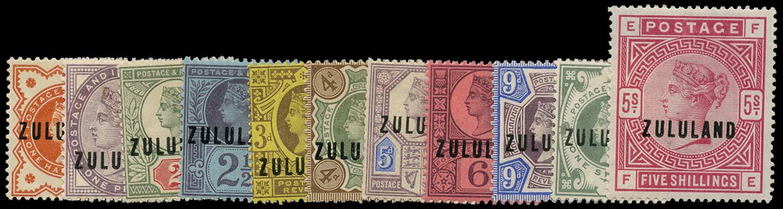 ZULULAND 1888  SG1/11 Mint
