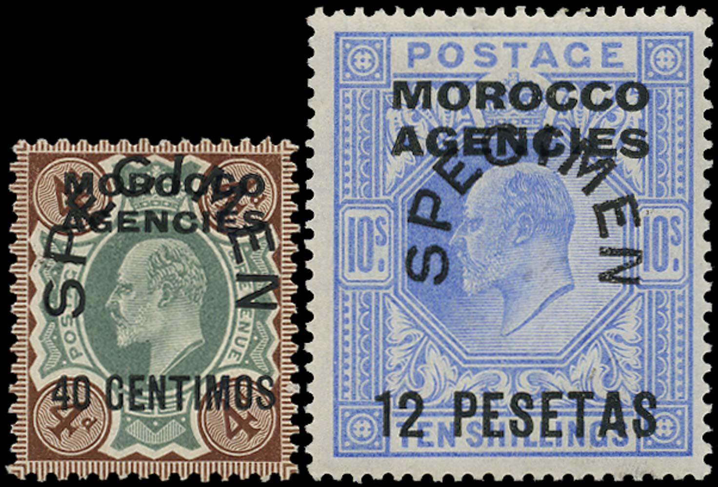 MOROCCO AGENCIES 1907  SG117s/123s Specimen