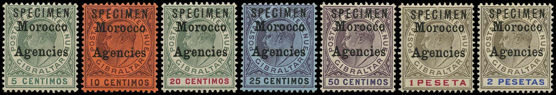 MOROCCO AGENCIES 1903-5  SG17s/23s Specimen