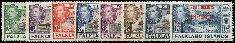 FALKLAND ISLAND DEPS 1944  SGC1s/8s Specimen South Orkneys set of 8