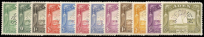 ADEN 1937  SG1s/12s Specimen Dhow set of 12